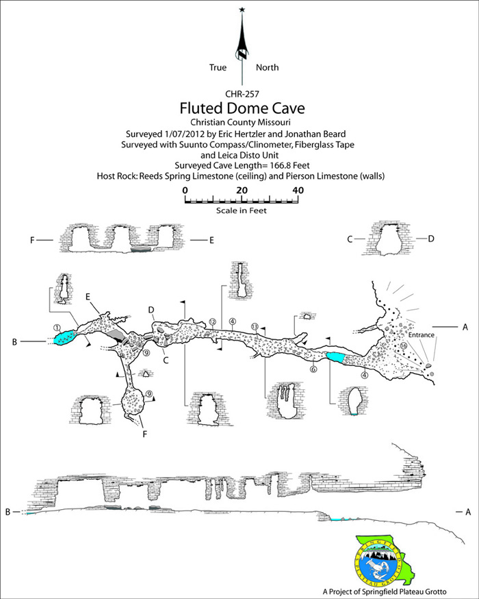 Fluted Dome Cave Map